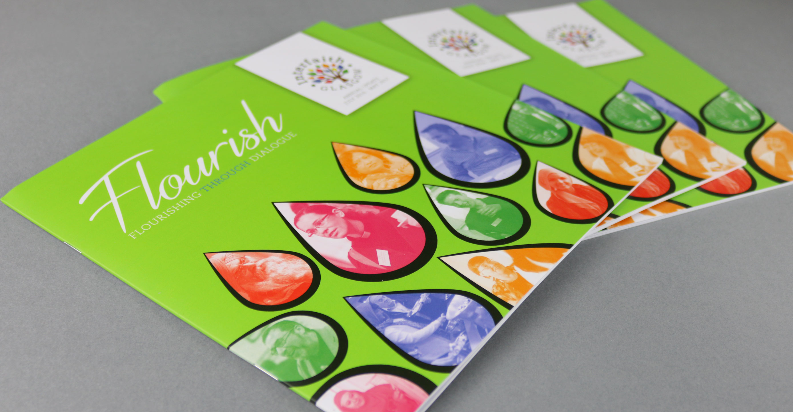Newsletter design for Glasgow based charity, Interfaith Glasgow.