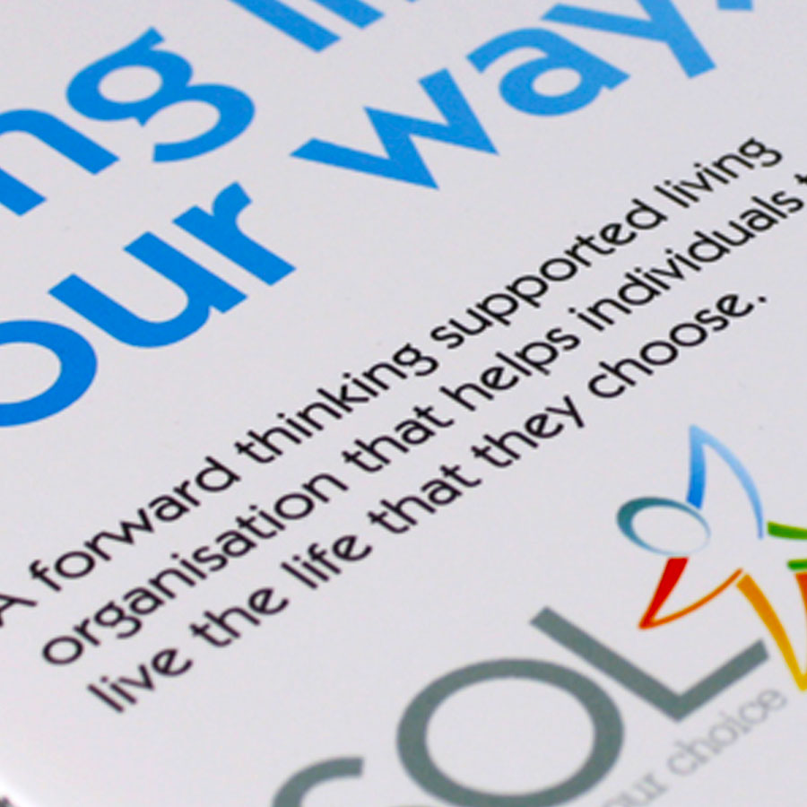 Branding, newsletter design, marketing material design, website design and social media planning for Lanarkshire based charity, Support for Ordinary Living