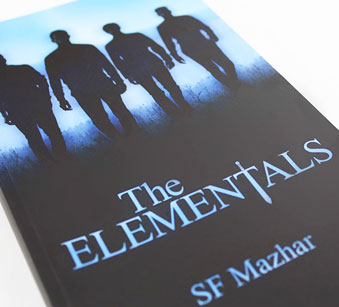 Book cover design for Glasgow based author, SF Mazhar.