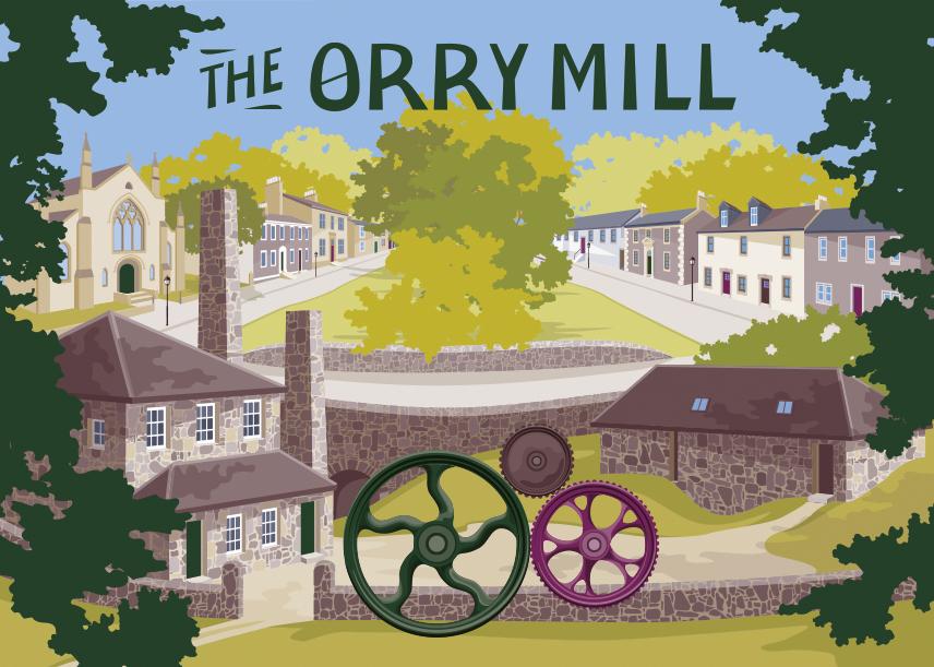 Illustration for Lanarkshire based haberdashery, The Orry Mill.