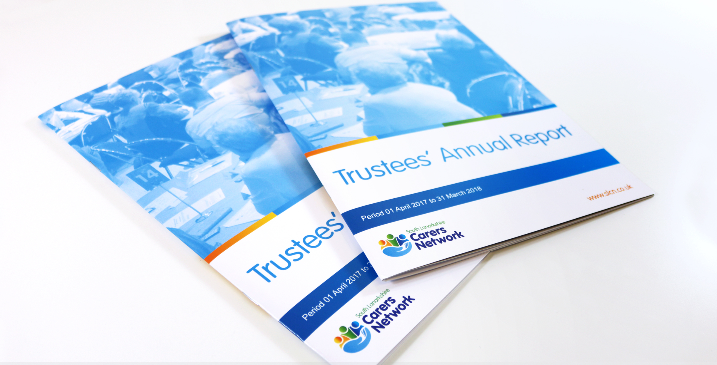 Annual report design for Hamilton based charity South Lanarkshire Carers Network.