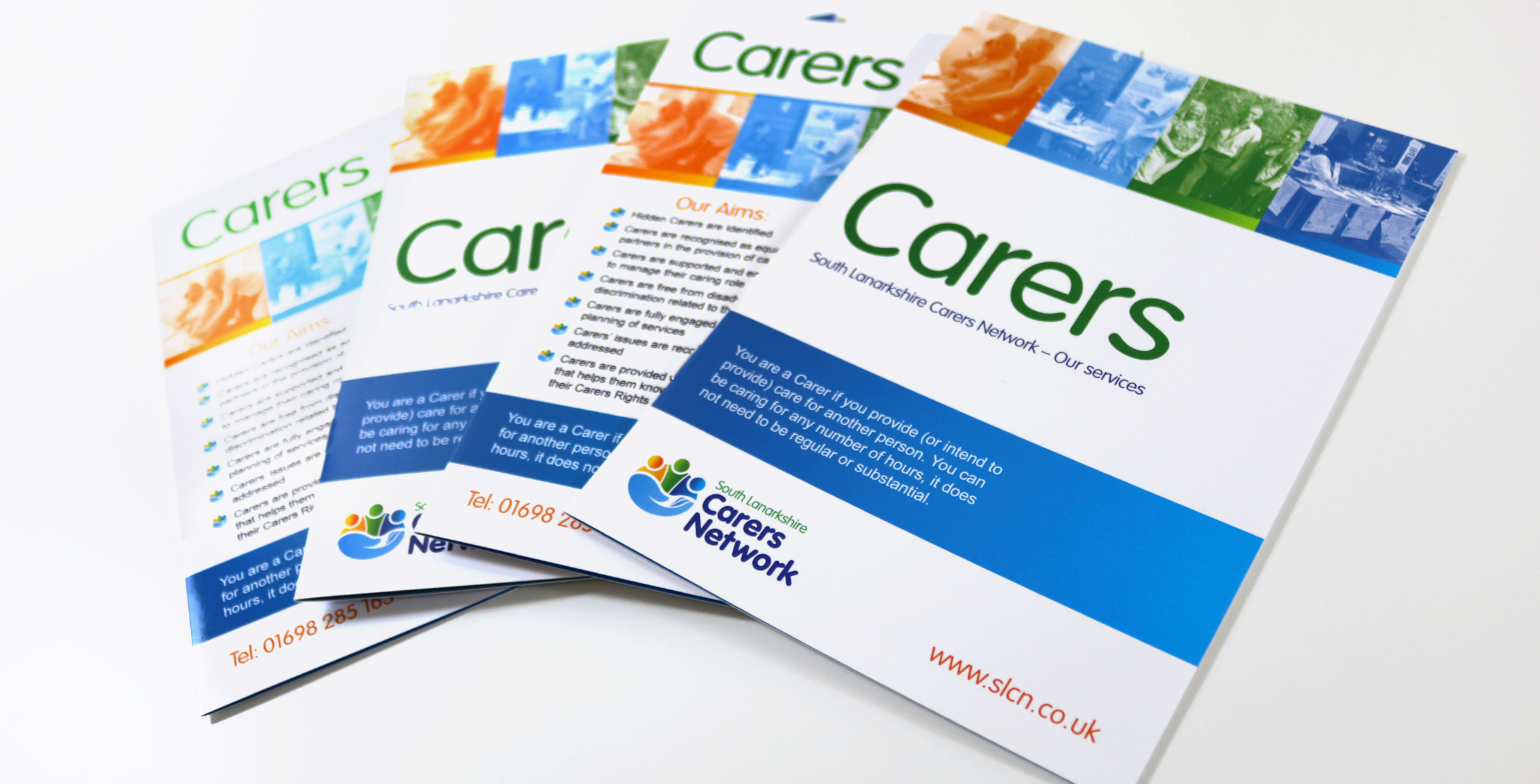Carers Book for South Lanarkshire Carers Network. Information marketing material