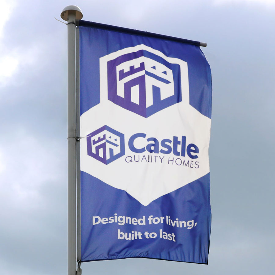 Branding, logo design, marketing material design and website design for Glasgow based house building firm, Castle Quality Homes