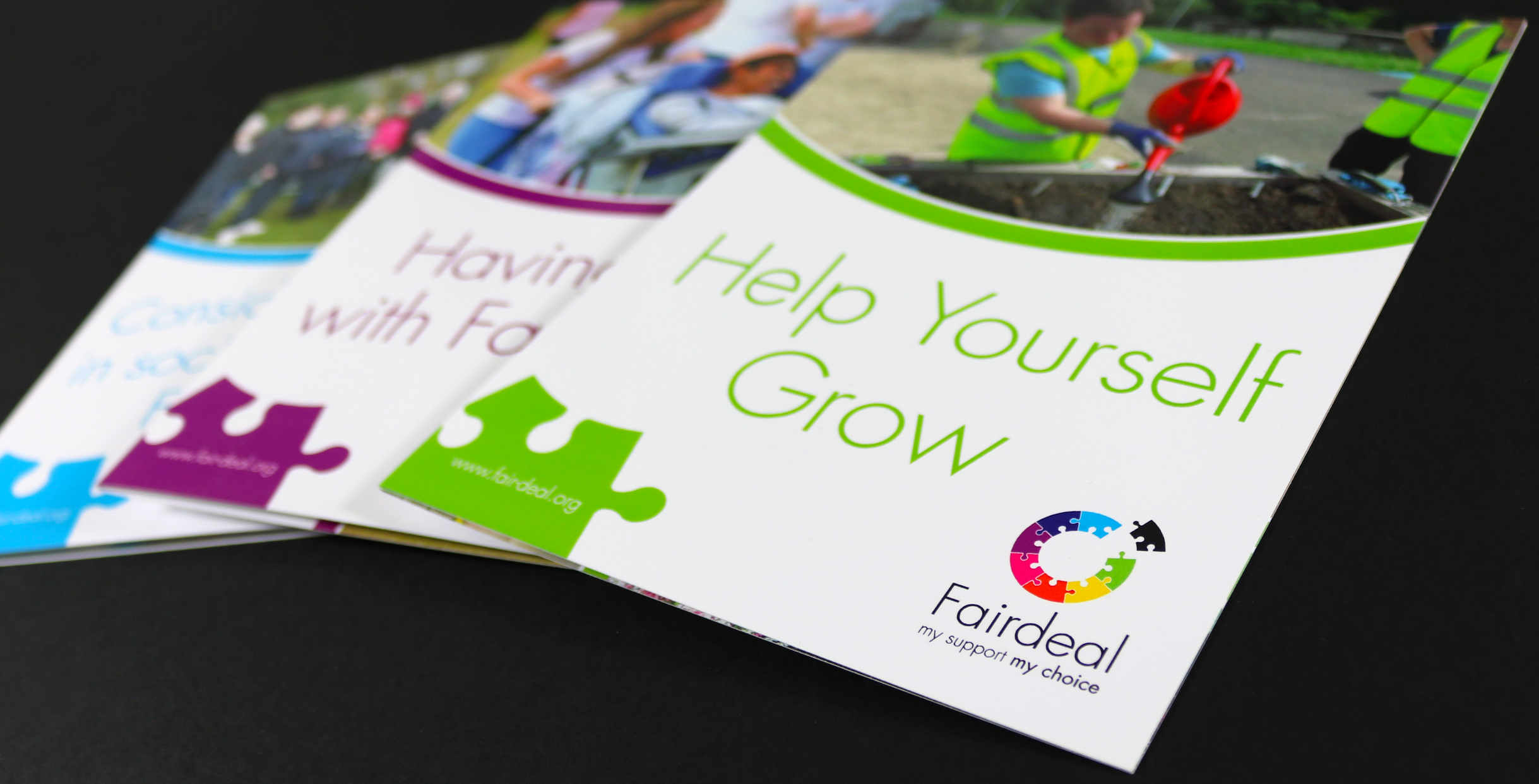 Leaflet design for Glasgow based charity, Fair Deal