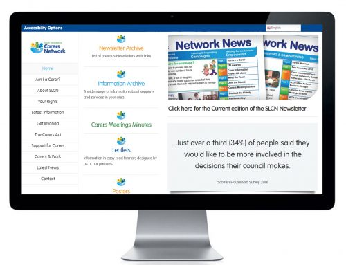 Website Design and Branding for South Lanarkshire Carers Network